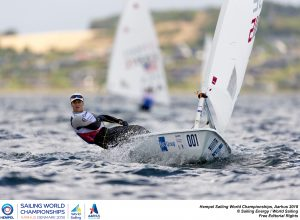 Aarhus, Denmark is hosting the 2018 Hempel Sailing World Championships from 30 July to 12 August 2018. More than 1,400 sailors from 85 nations are racing across ten Olympic sailing disciplines as well as Men's and Women's Kiteboarding.  40% of Tokyo 2020 Olympic Sailing Competition places will be awarded in Aarhus as well as 12 World Championship medals. ©PEDRO MARTINEZ/SAILING ENERGY/AARHUS 2018 04 August, 2018.