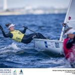 Aarhus, Denmark is hosting the 2018 Hempel Sailing World Championships from 30 July to 12 August 2018. More than 1,400 sailors from 85 nations are racing across ten Olympic sailing disciplines as well as Men's and Women's Kiteboarding.  40% of Tokyo 2020 Olympic Sailing Competition places will be awarded in Aarhus as well as 12 World Championship medals. ©JESUS RENEDO/SAILING ENERGY/AARHUS 2018 10 August, 2018.